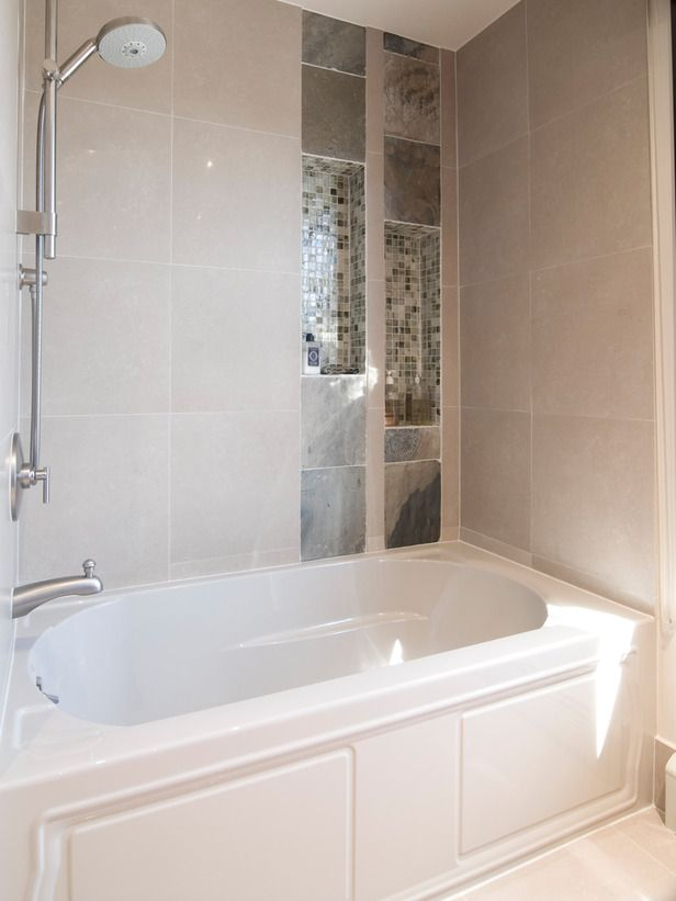 Brilliant Built In Bathtub Shelves Traditional