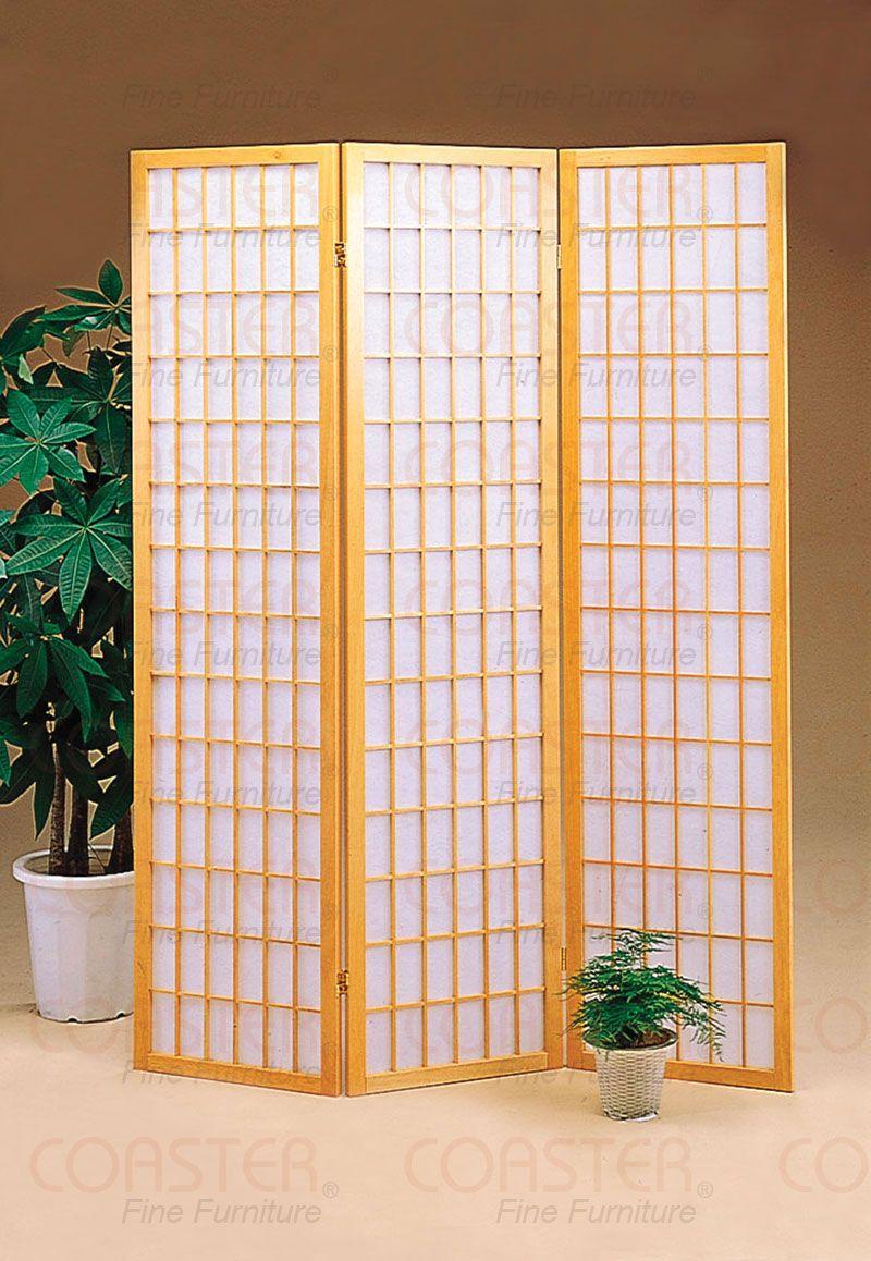 panel natural folding screen room divider by coaster