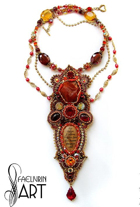Beautiful embroidered jewelry by Natalia Volodeva | PATTERNS BEADS ...
