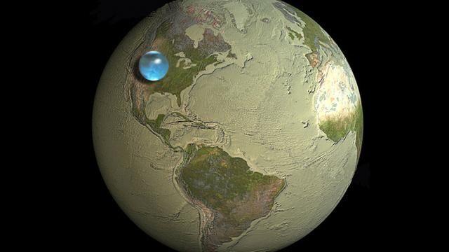 Cette image choc sur la quantité d'eau sur Terre prouve que l'eau est rare