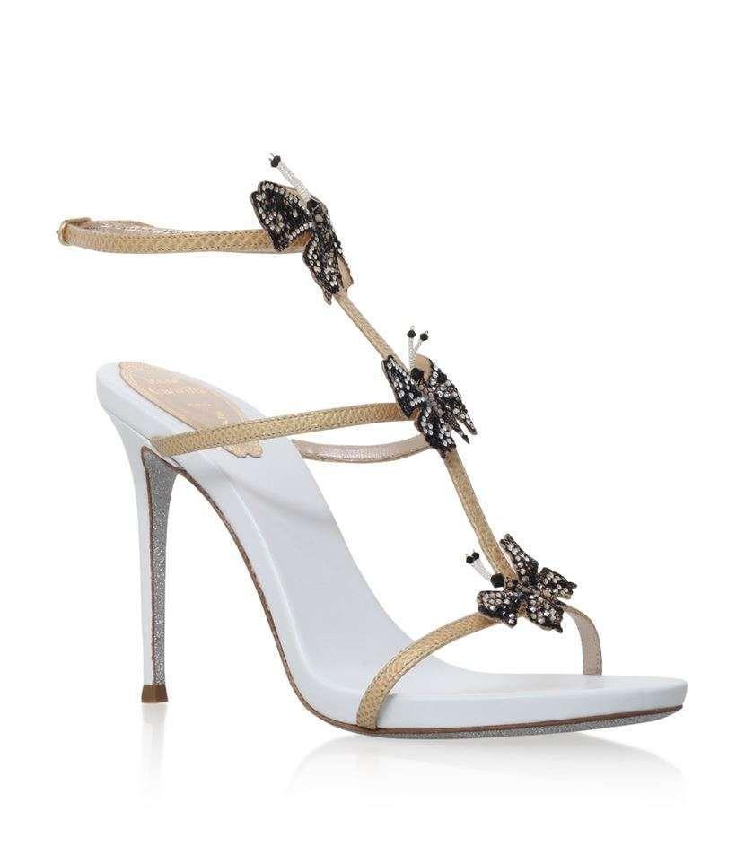 Sandali gioiello da sposa 2016 - Sandali con farfalle Renè Caovilla