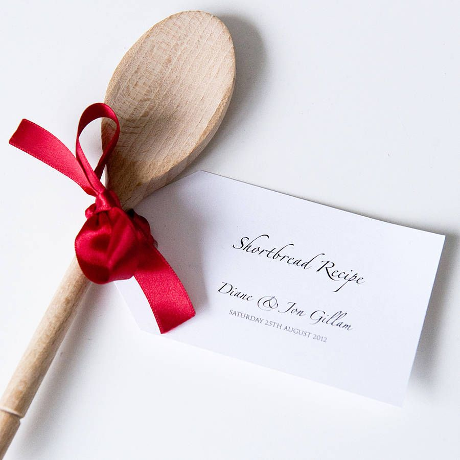 Wooden Spoons With Recipe Tag Favours | Wooden spoon, Favours and Spoon
