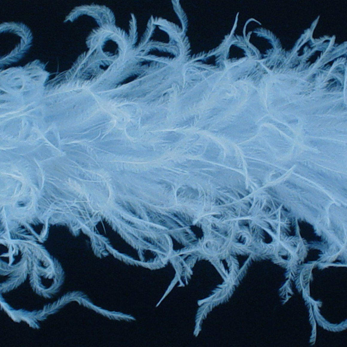 Light Blue 1 Ply Curly Ostrich Feather Boas Baby Hair Bows Ostrich Feathers Blue Feather