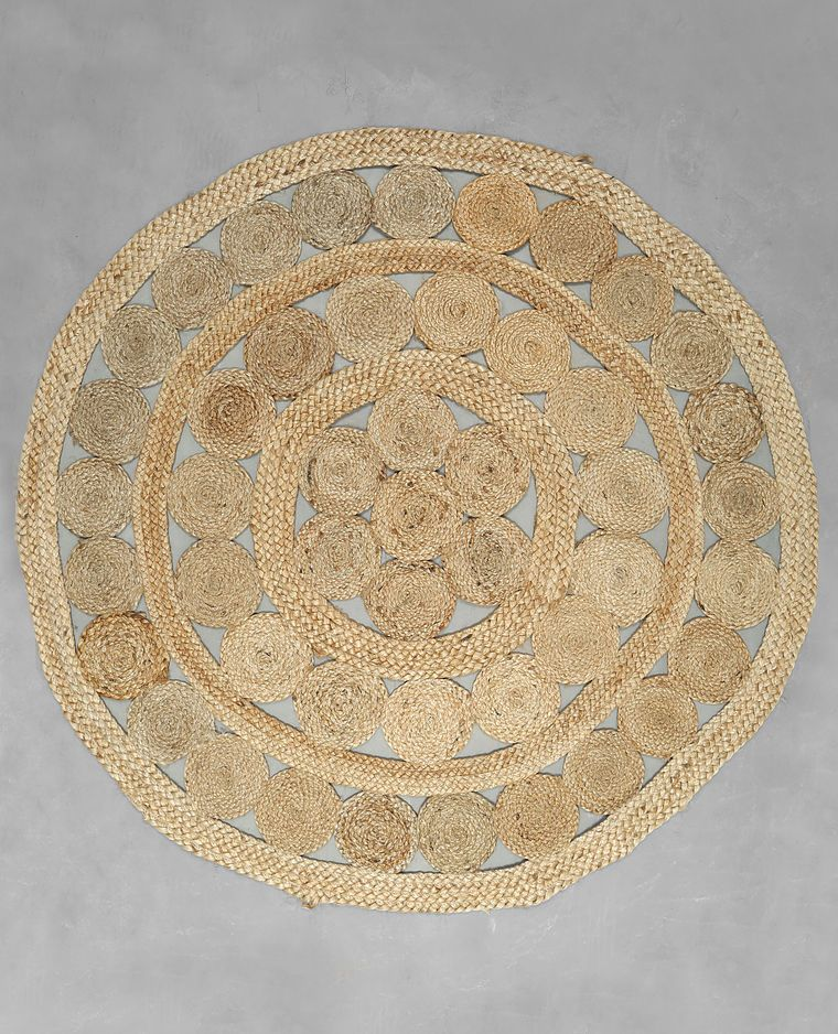 great tapis rond jute beige taupe with tapis rond maison du monde. Black Bedroom Furniture Sets. Home Design Ideas