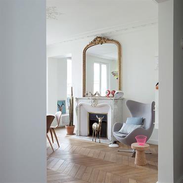 S jour d 39 un appartement haussmannien paris r novation pinterest decoration cheminee - Maison de la hongrie paris ...