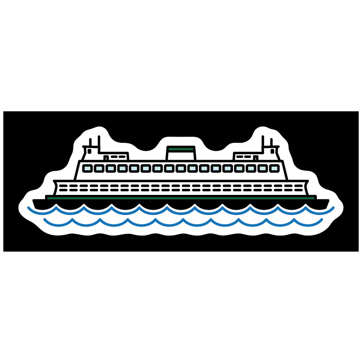 Ferry Boat Sticker Boat Stickers Ferry Boat Boat