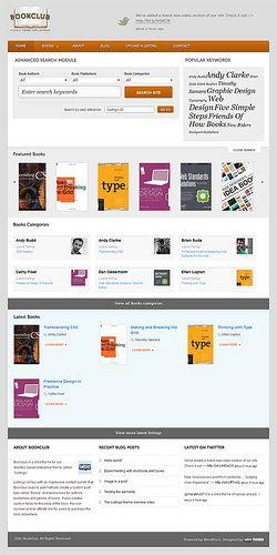 bookclub premium wordpress theme WordPress Blog & Magazine Themes ...