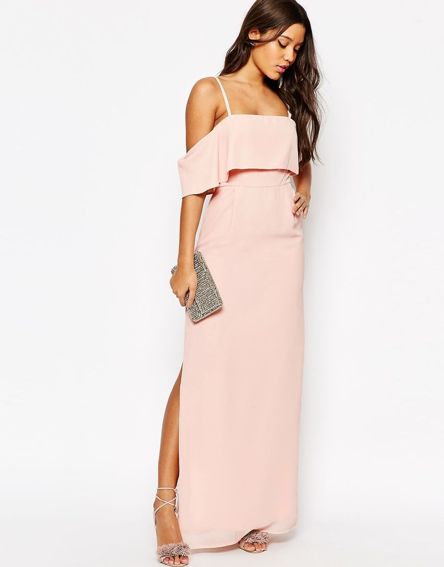 Imagen 4 de Vestido largo con hombros descubiertos de ASOS | moda ...