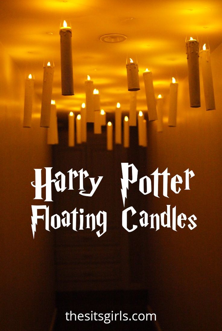 Easy tutorial for making your own Harry Potter floating candles. They are perfect for a Harry Potter party or Halloween decor! It's easy to recreate the magic of the Hogwarts Great Hall in your own home. #halloweendecorations