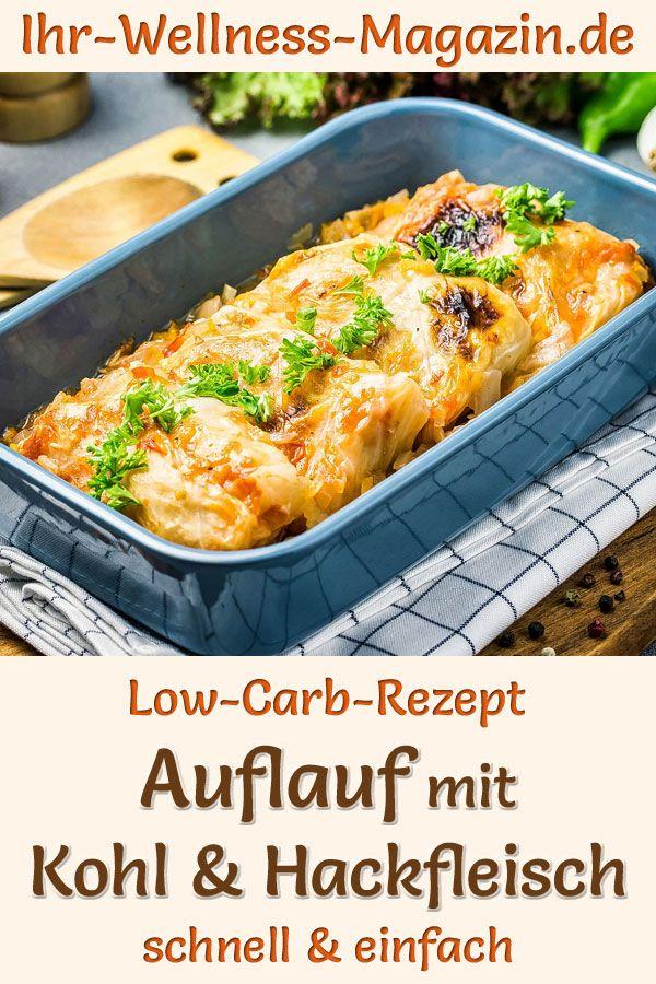 Auflauf mit Kohl und Hackfleisch - herzhaftes, gesundes Low-Carb-Rezept