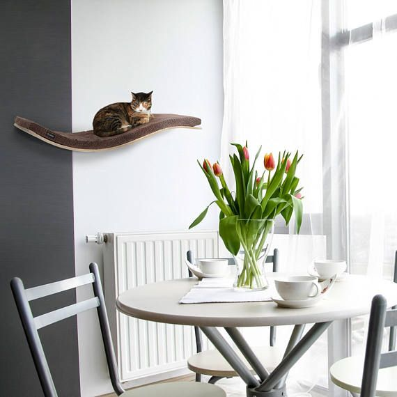 cat safe furniture. Our Classically Designed Wall-mounted CHILL DE-LUXE Cat Shelf Provides All That Your Desires When It Comes To Perching Aloft Somewhere Safe, Co\u2026 Safe Furniture