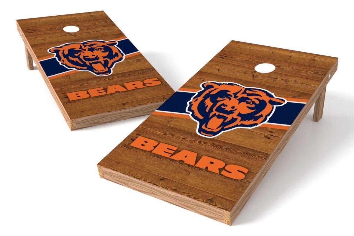 Chicago Bears Cornhole Board Set Logo (w/Bluetooth