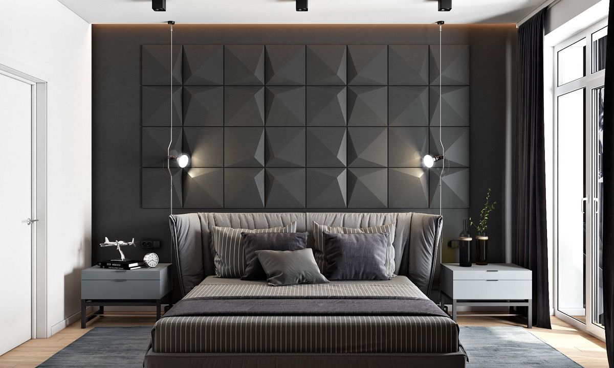 awesome accent wall ideas for your bedroom the home designer co also in black rh pinterest