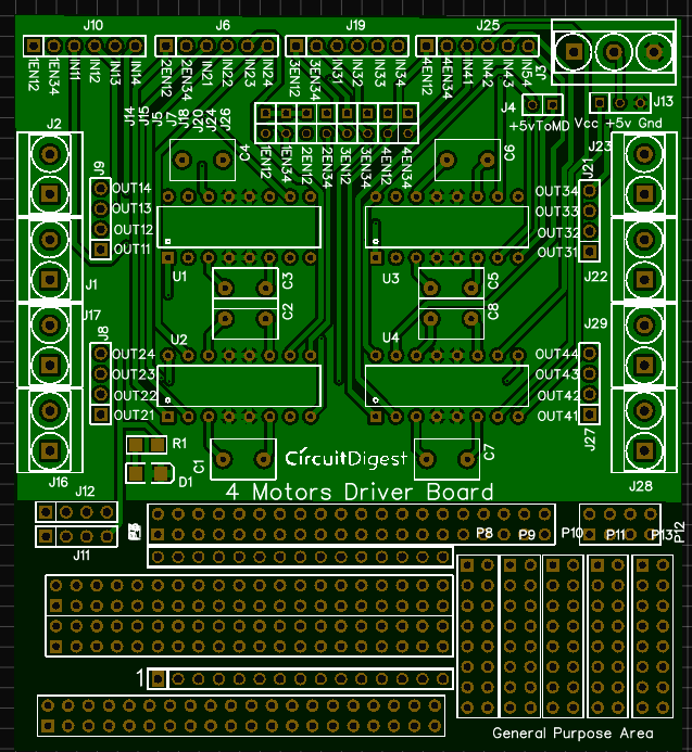 Photo View Of Motor Driver Circuit Pcb Vintage Electronics Circuit Electronics Circuit