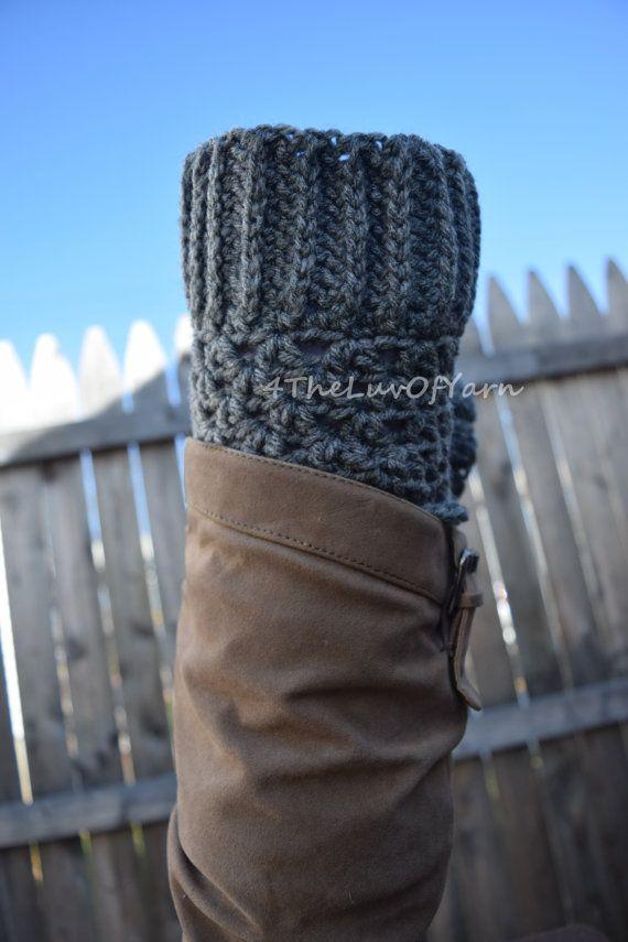 Boot Cuffs women, Crochet boot cuff, Boot Cuff Set, Grey Boot Cuffs, Stocking Stuffer