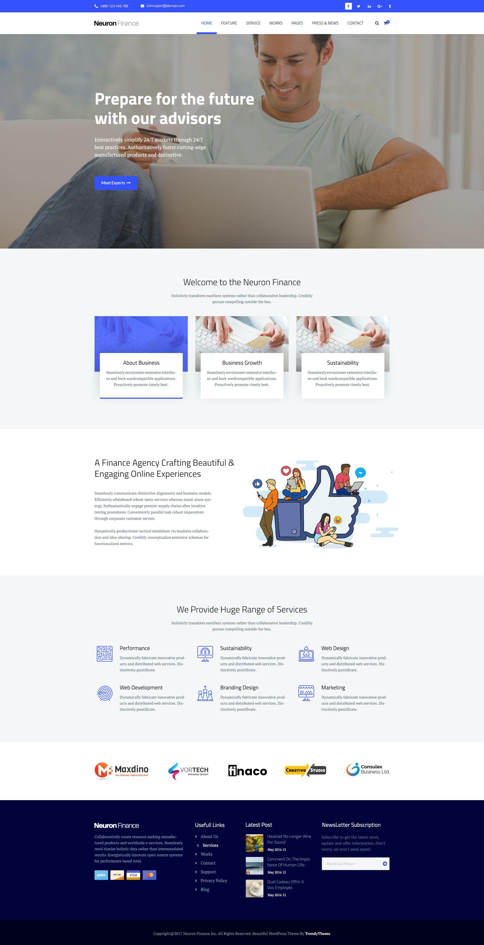 Neuron finance free html business template web design pinterest neuron finance free html business template wajeb Images