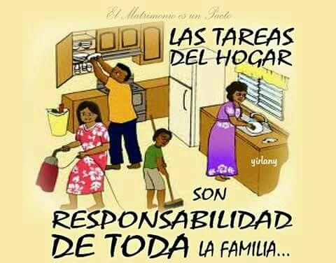 Las Tareas Del Hogar Son Responsabilidad De Toda Ka Familia