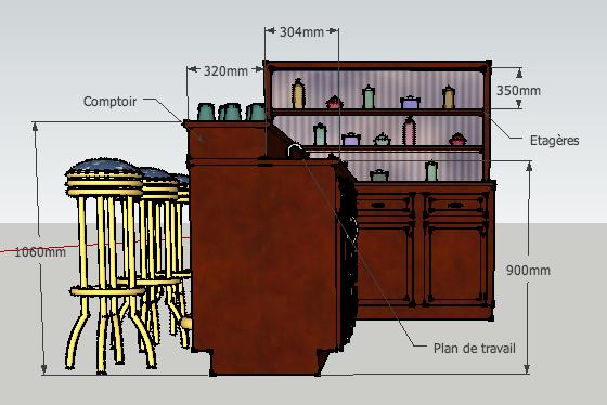 Hauteur d un bar de cuisine id es de for Hauteur d un meuble de cuisine