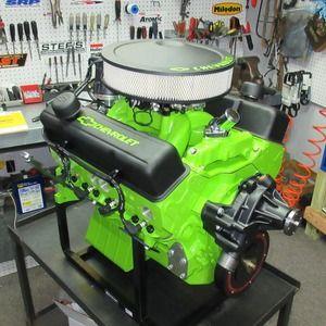 Custom Painted Engine | Engine | Chevy motors, Mustang