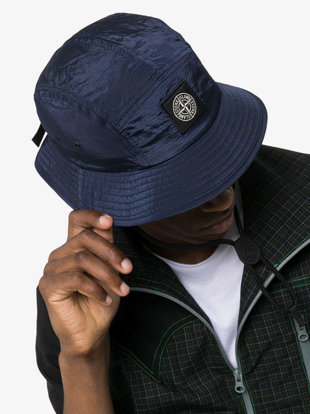7af02fc0f Blue logo patch ripstop bucket hat | Bankrupt Style Superstore in ...
