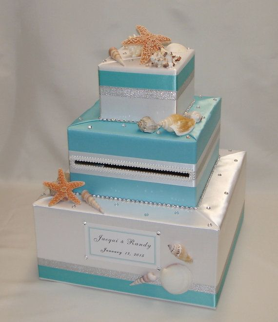 Beach Ocean Seashells Theme Wedding Card By ExoticWeddingBoxes