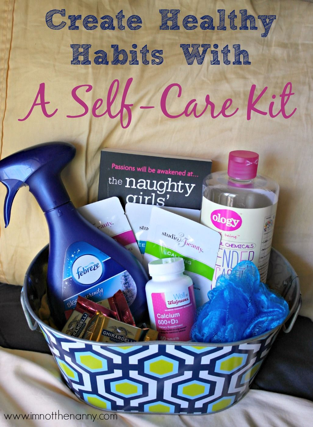 Create healthy habits with a selfcare kit im not the