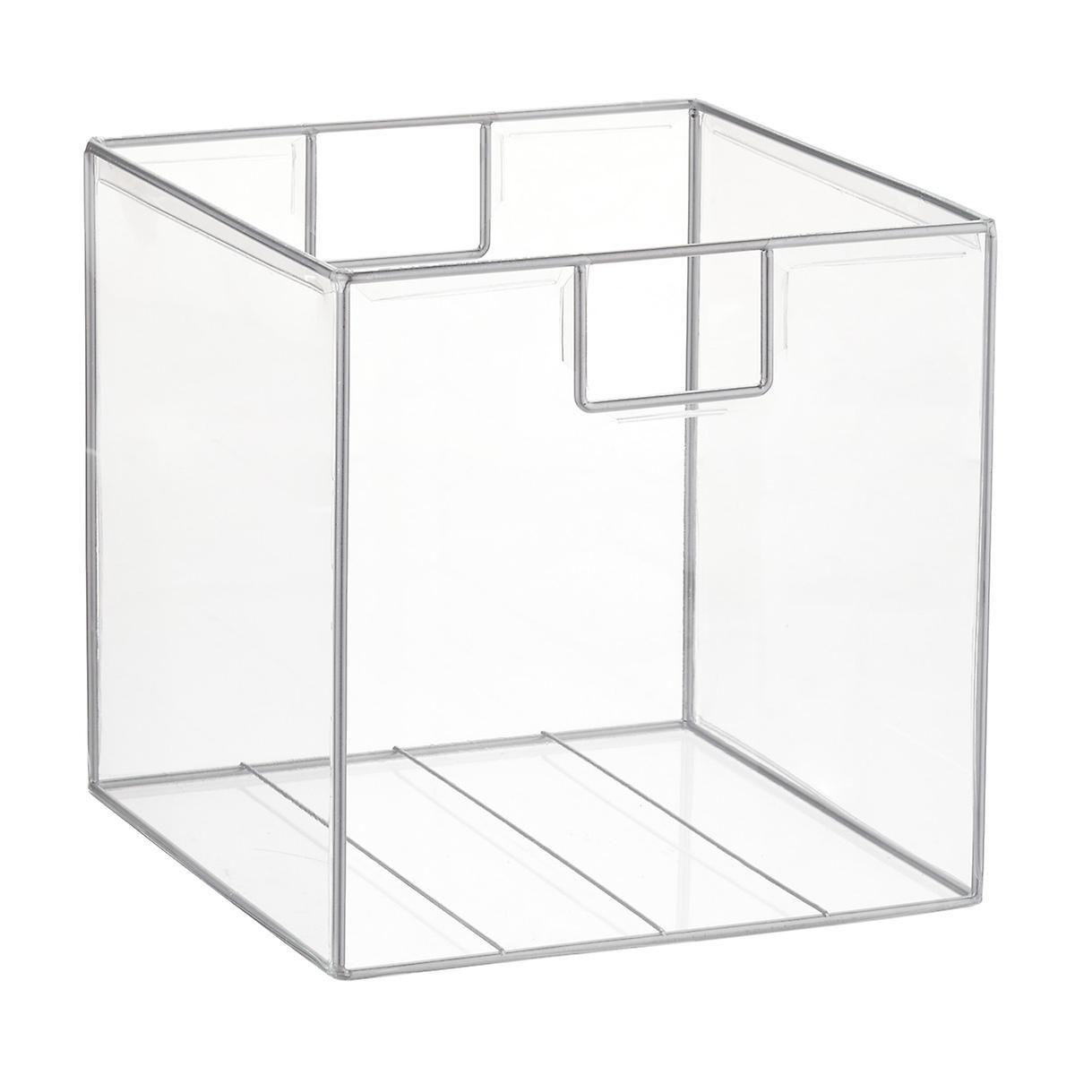 Clear Lookers Cubes Clear Storage Bins Cube Storage Bins Elfa Shelving
