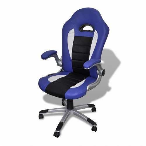 Prezzi e Sconti: #Vidaxl blu sedia ufficio in pelle design - In ...