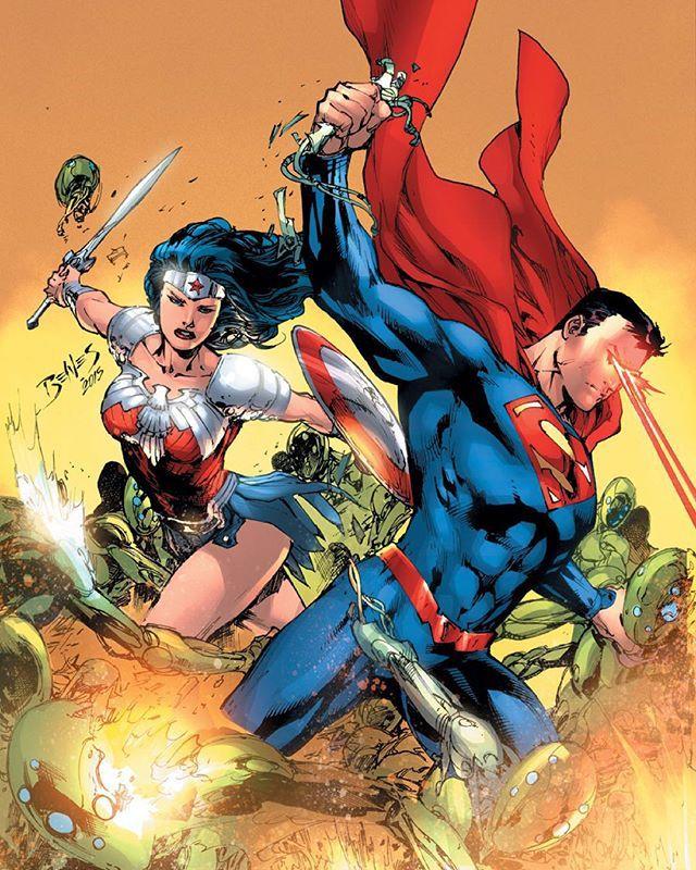 Superman & Wonder Woman by Ed Benes! - Comic - 'Superman/Wonder Woman' #27 (March 2016)