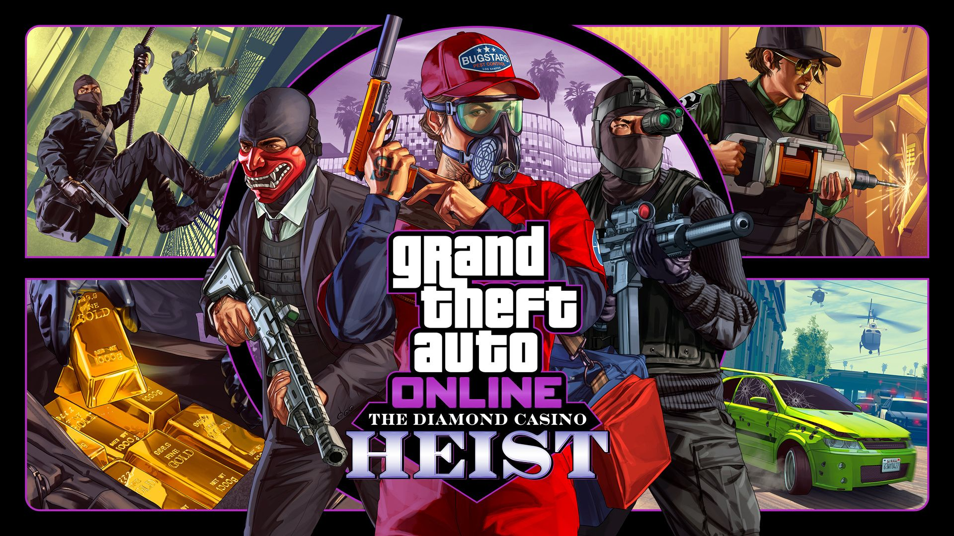 Gta Online Le Braquage Du Diamond Casino Arrive La Semaine Prochaine En 2020 Braquage Grand Theft Auto Les Infiltres