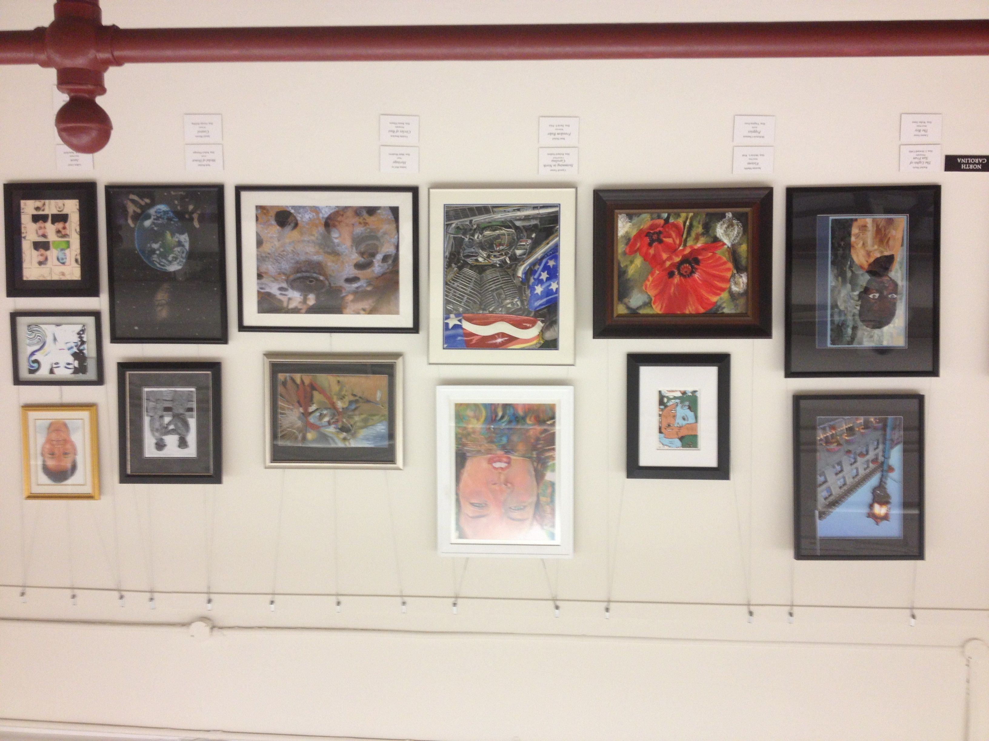 All thirteen of North Carolina's outstanding contributions to the 2013 National Congressional Art Competition Collection. What incredible artists we have!