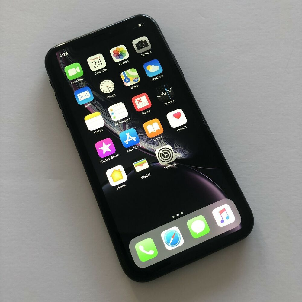 Apple Iphone Xr 64gb Black At T Smartphone At T And Cricket