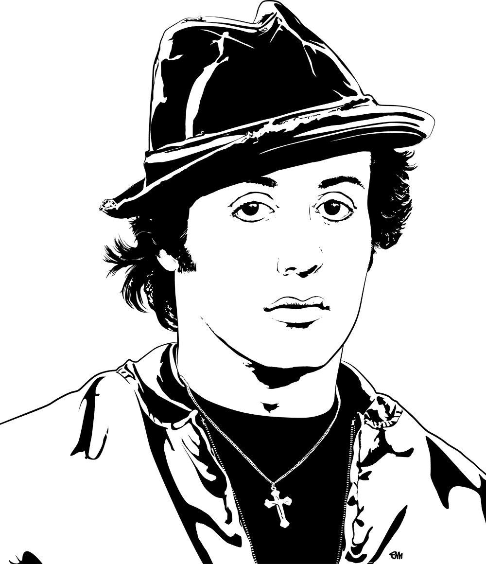 Rocky Balboa Colouring Pages
