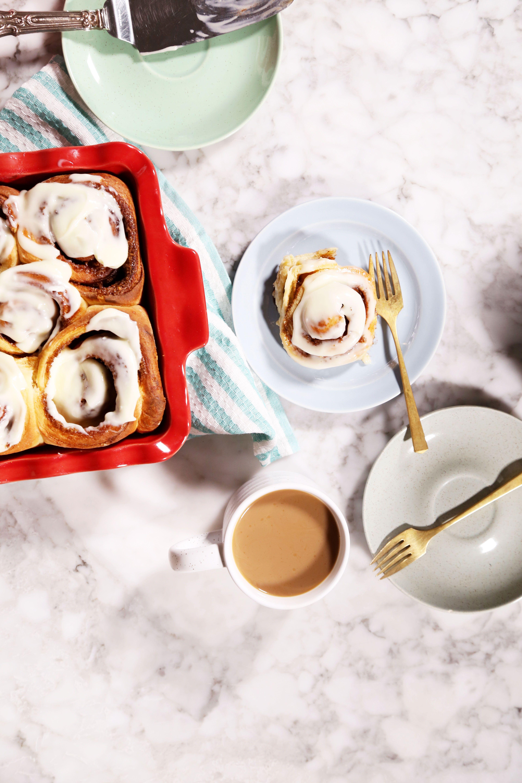 King Arthur Flour\'s Cream Cheese Cinnamon Rolls | Recipe | Christmas ...