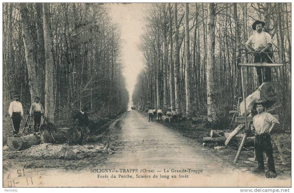 Bûcherons Soligny La Trappe (Mortagne , Orne)