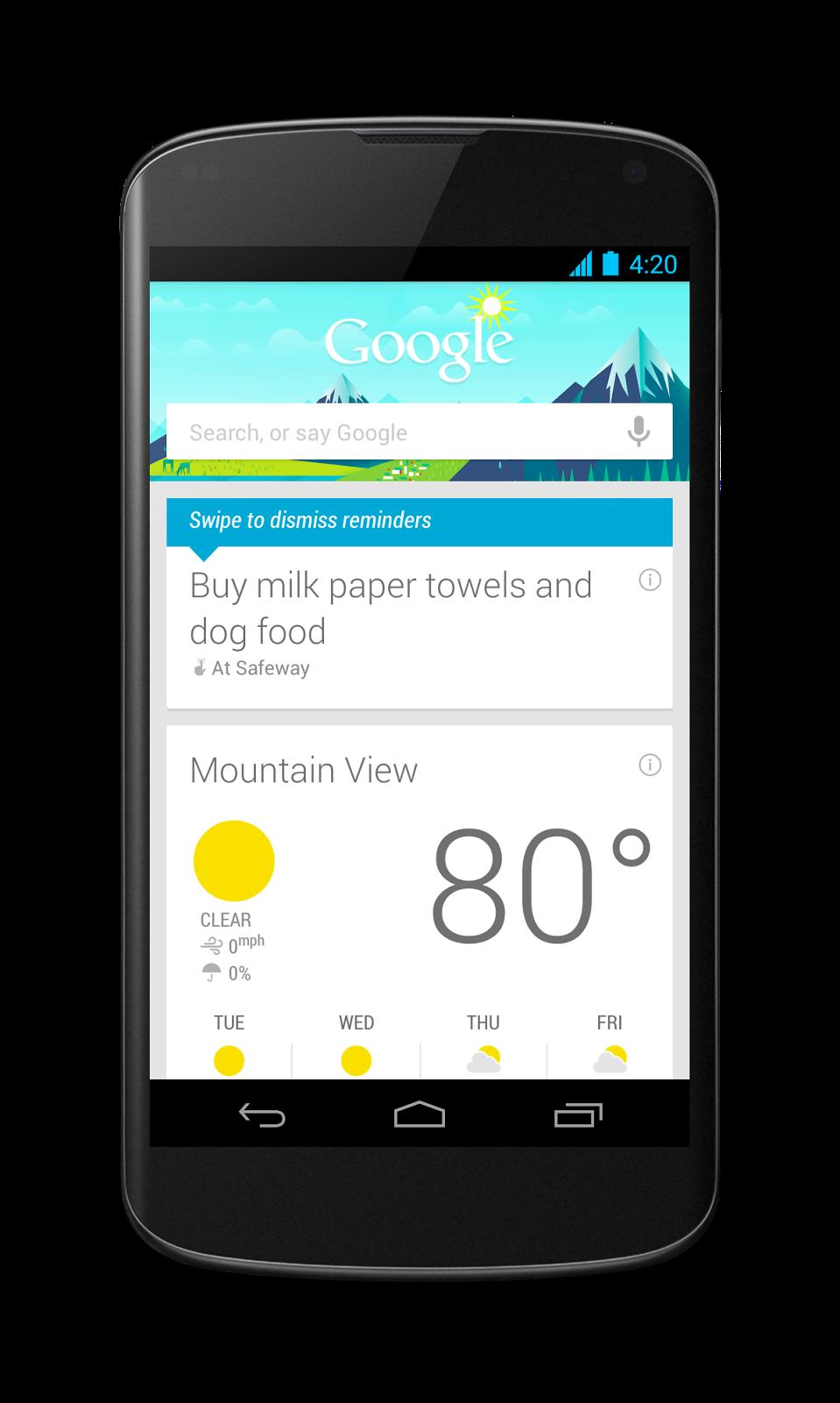 Google does it all. Google voice, Say google, App