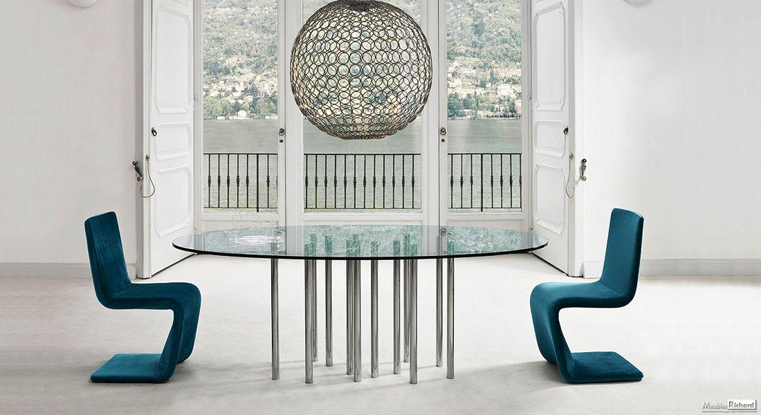 Table Bonaldo Magasin De Meubles Esstisch Design Esszimmer Modern Esstisch Mit Glasplatte