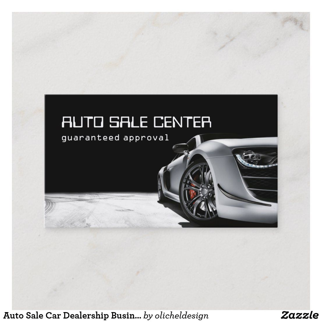 Auto Sale Car Dealership Business Card Zazzle Com Tarjetas De Presentacion Venta De Autos Tarjeta