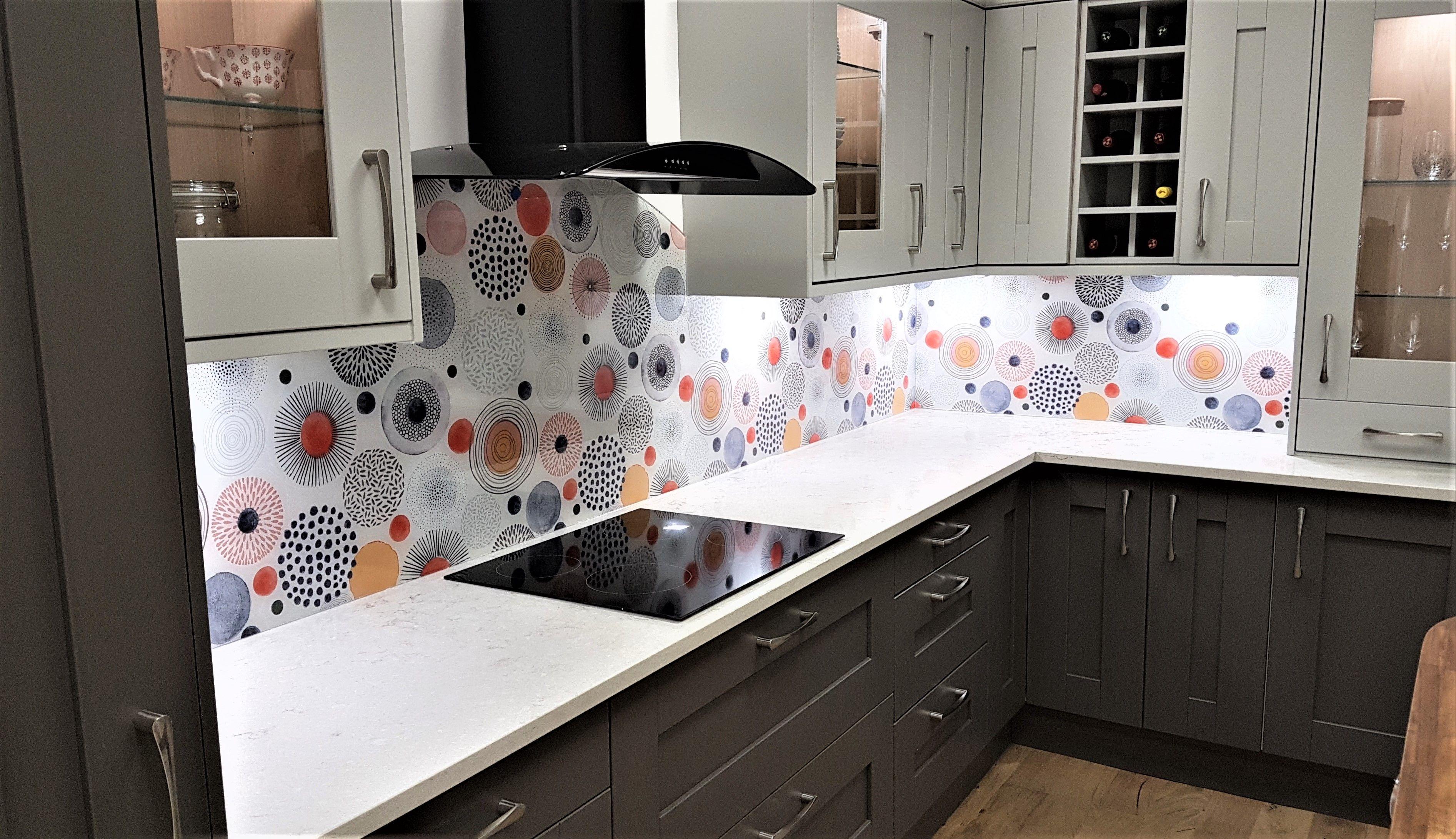 Gorgeous Printed Glass Kitchen Splashback Glass Splashbacks