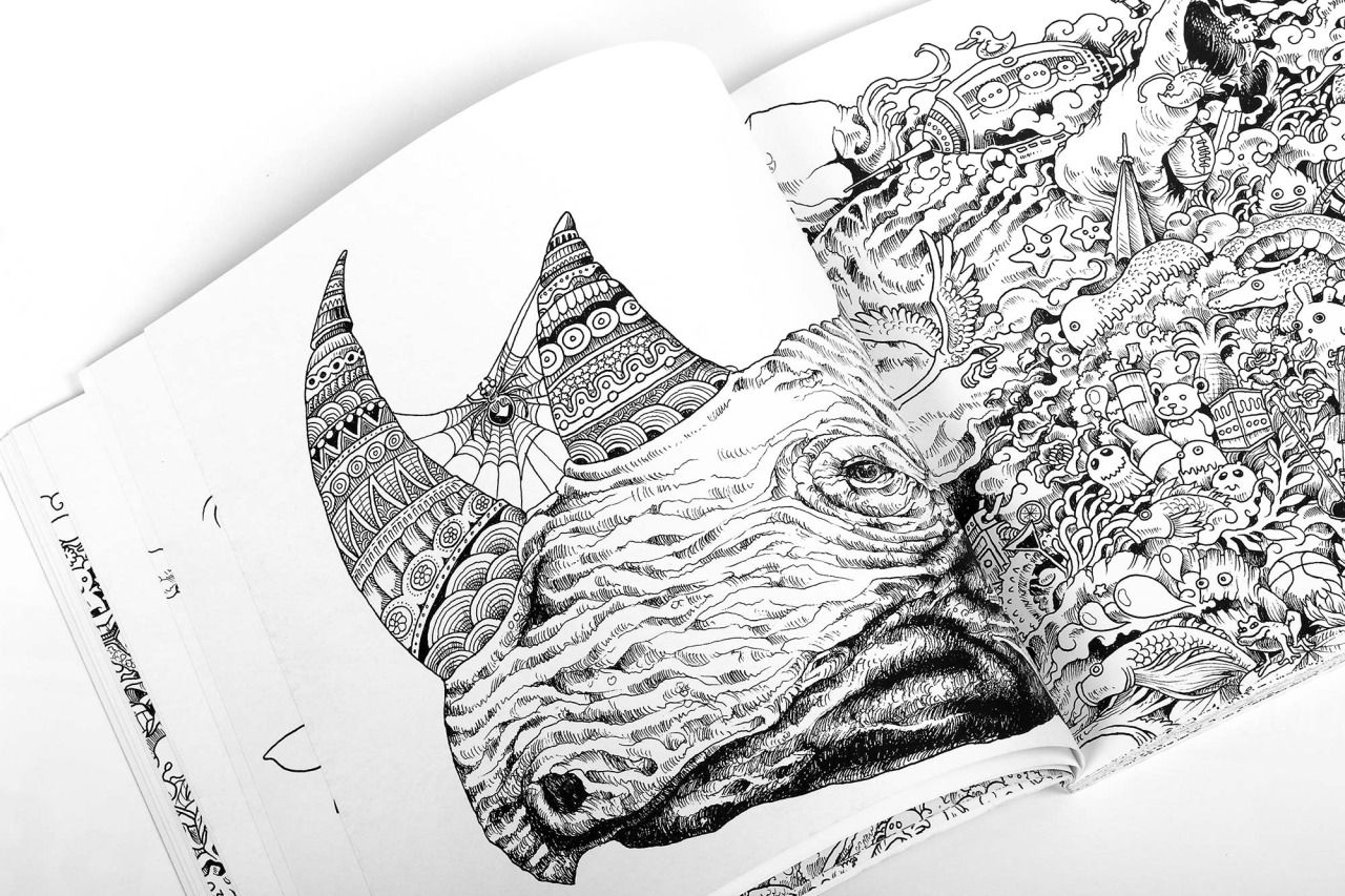 Animorphia An Extreme Coloring And Search Challenge Book By Kerby Rosanes