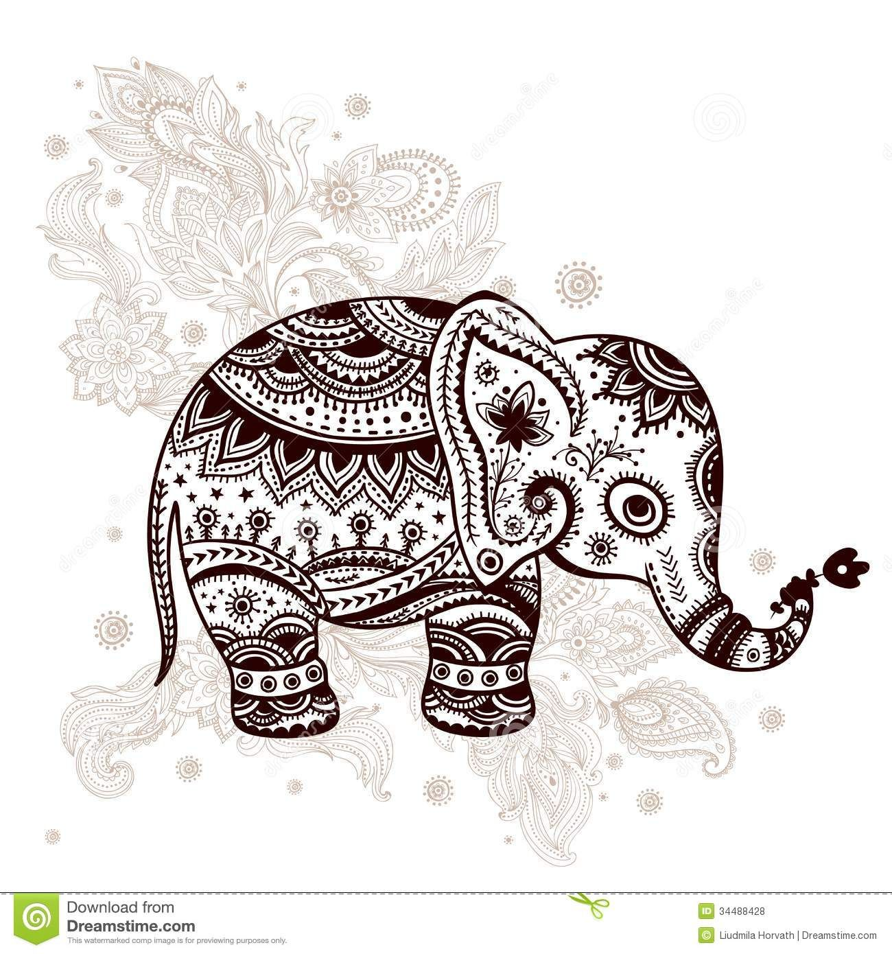 ethnic elephant illustration download from over 27. Black Bedroom Furniture Sets. Home Design Ideas