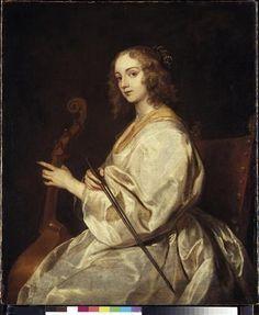 Antoon Van Dyck, Portrait de Margaret Lemon à la viole de gambe, vers 1638