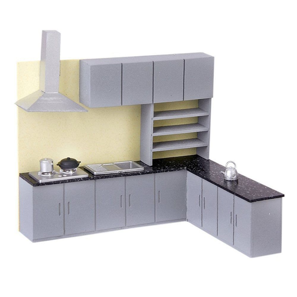 1:25 Kitchen Cabinet Cupboard Furniture for Dolls House Dining Room Accessories Decoration Pretend DollHouse Furniture Set #dollhousefurniture