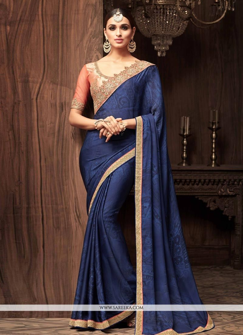 Faux georgette classic designer saree saree ethnic and designers