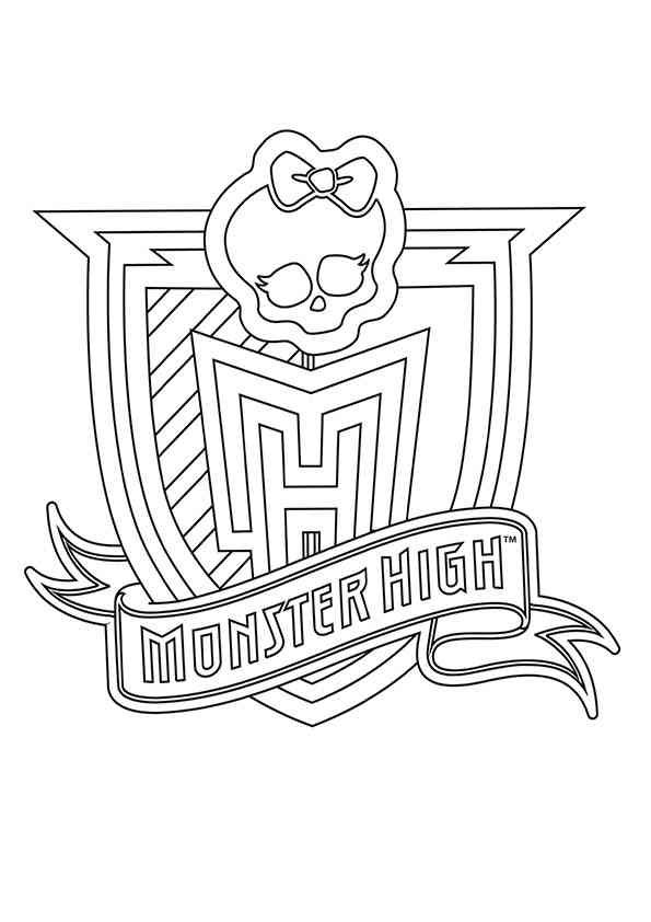 coloring pages monster high skull - photo#32