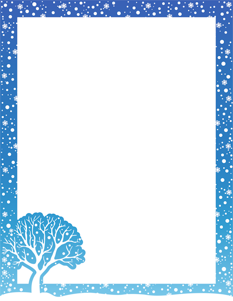 Printable winter border. Free GIF, JPG, PDF, and PNG ...