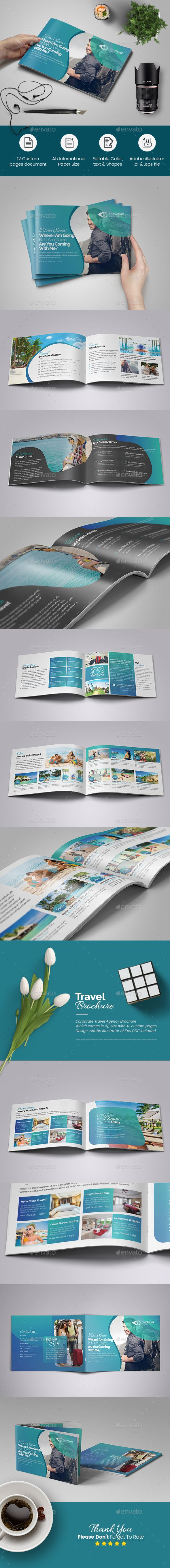 Travel Agency Brochure Brochures Brochure Template And Corporate