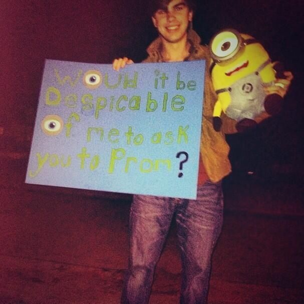 Minion Prom Proposal Promposals Pinterest Proposals Prom And