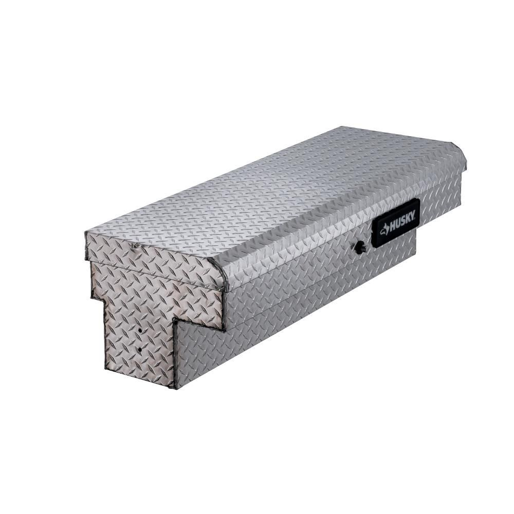 Husky 46 8 In X 15 7 In X 13 3 In Aluminum Low Side Truck Box 102300 9 01 Truck Boxes Truck Bed Storage Truck Tool Box
