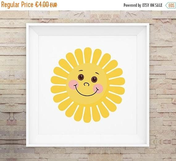 80% OFF Baby Sun Nursery Wall Art Poster Print Printable | Art ...